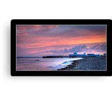 Sunset, South Parade Pier Canvas Print