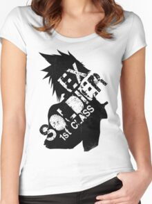 Cloud Strife ex-SOLDIER Women's Fitted Scoop T-Shirt