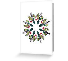 Floral ornament Greeting Card