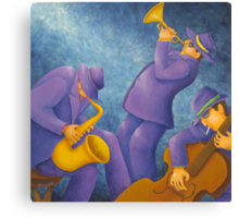 Cool Jazz Trio Canvas Print