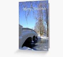 Winter Bridge - Christmas Card Greeting Card