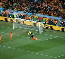 Iniesta Winning goal World Cup final 2010 by Darren Bellamy