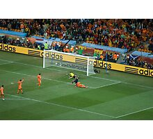 Iniesta Winning goal World Cup final 2010 Photographic Print