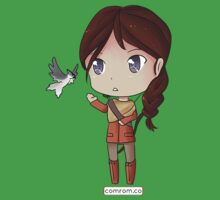 Katniss Everdeen Chibi by KlockworkKat Kids Clothes