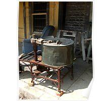 Old Vintage Washtub Poster