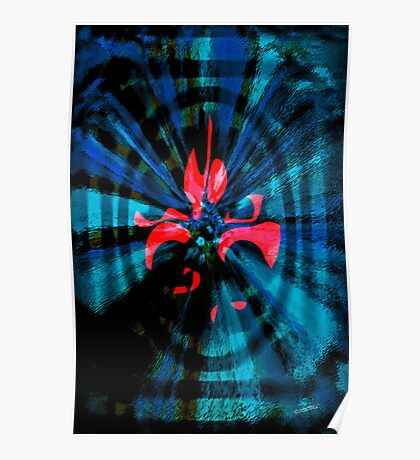 Abstract of Red and Blue Poster