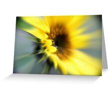 Sunflower rush Greeting Card