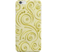 Gold swirls iPhone Case/Skin