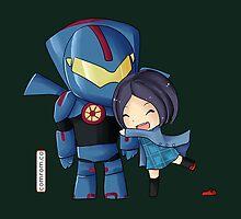 Pacific Rim- Mako Mori and Gipsy Danger Chibi by KlockworkKat by commonroompc