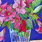 Pink & Purple Floral by marlene veronique holdsworth