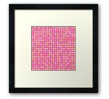 Sweet Cute Pink Flowers Framed Print