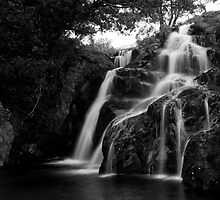 Waterfall near Snowdon by Alex Maciag