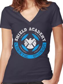 S.H.I.E.L.D. Academy (BLACK) Women's Fitted V-Neck T-Shirt