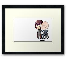 Mutant and Proud: Magneto and Professor Xavier Chibis by Klockworkkat Framed Print