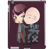 Mutant and Proud: Magneto and Professor Xavier Chibis by Klockworkkat iPad Case/Skin