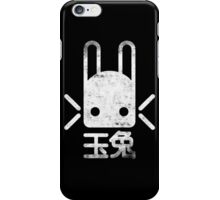 Jade Rabbit Insignia grunge white iPhone Case/Skin