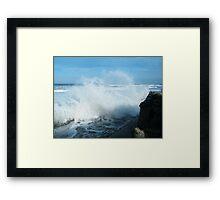 Rough Seas Again Framed Print