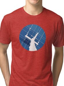 Blue Wires Overhead  Tri-blend T-Shirt