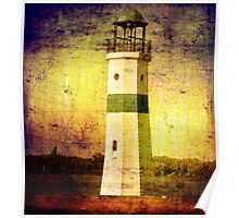 Lighthouse on the River Poster