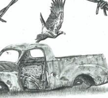 Old Ute in a Paddock Sticker