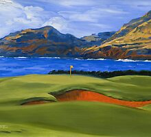 KEATING Fine Art Print GOLF MAUI, HAWAII Impressionist by KeatingArt