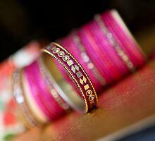 Pink bangles by naureen bokhari