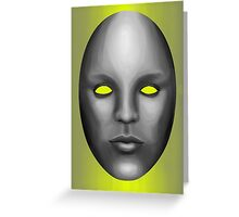 Android Visage Greeting Card