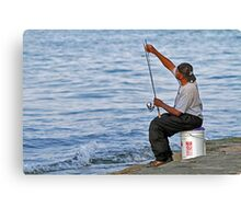 It's Fishing Time Canvas Print
