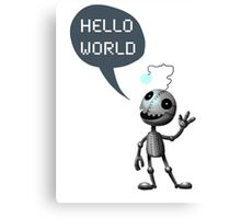 Hello World! Canvas Print
