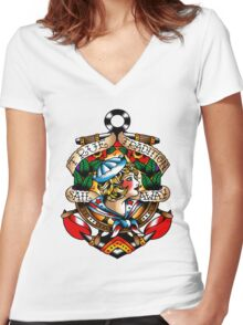 Sail Away-True Tradition Women's Fitted V-Neck T-Shirt