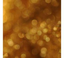 Golden Bokeh Photographic Print