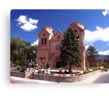 Cathedral Basilica of St Francis ( Santa Fe NM.) Canvas Print