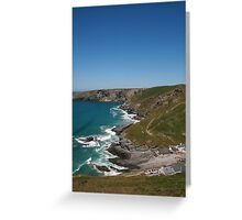 Trebarwith Strand Headlands  Greeting Card