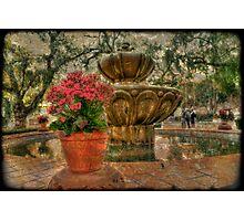 Spanish  Fountain Photographic Print