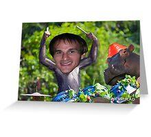 Devo Photobomb Greeting Card