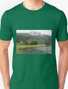 Crap da Sass Castle and Lake Silvaplana T-Shirt