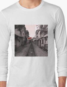 Rail Track, Hanoi in Vietnam. Long Sleeve T-Shirt
