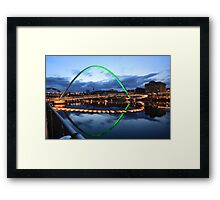 Gateshead Millennium Bridge, Reflections Framed Print