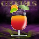 Cocktail Orange And Red With Lime And Orange by Moonlake