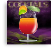 Cocktail Orange And Red With Lime And Orange Canvas Print