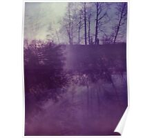 Dreamy Purple Trees Poster
