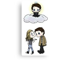 Claire Novak, Jimmy Novak, Castiel Canvas Print