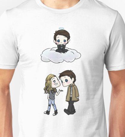 Claire Novak, Jimmy Novak, Castiel Unisex T-Shirt