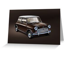 Mini brown Greeting Card