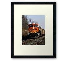 Heavy metal rolling thru Indiana Framed Print