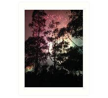 Fireworks through the Trees Art Print