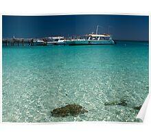 Harbour Scene - heron Island - Australia Poster