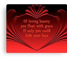 Loving Beauty Canvas Print