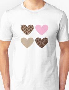 HEARTS QUAD 4 Unisex T-Shirt