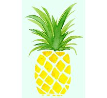 Watercolor Pineapple Photographic Print